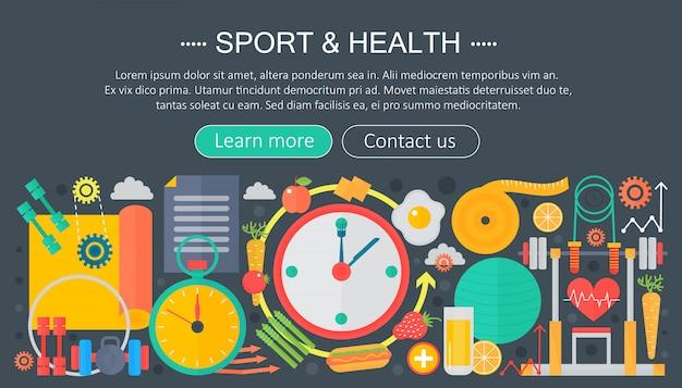 Plantilla de infografía plana deporte y fitness