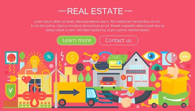 Plantilla de infografía plana inmobiliaria