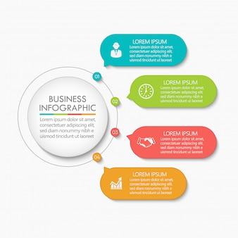 Plantilla de infografía presentación círculo empresarial