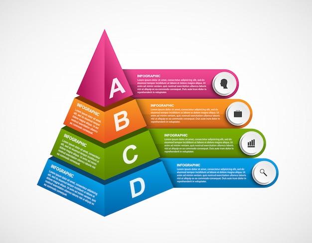Plantilla de infografía para presentaciones.