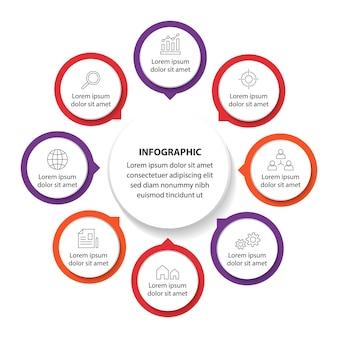 Plantilla de infografía profesional diseño de gráfico de negocio