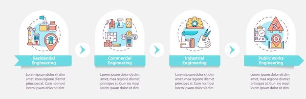 Plantilla de infografía de proyecto de ingeniería civil
