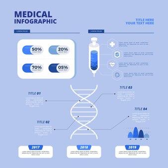 Plantilla de infografía de salud profesional