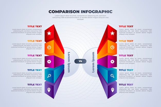 Plantilla de infografía de tabla comparativa