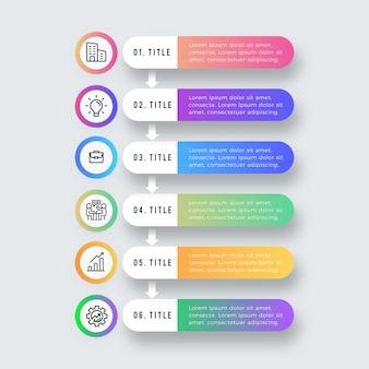 Plantilla de infografía de tabla de contenido de color degradado