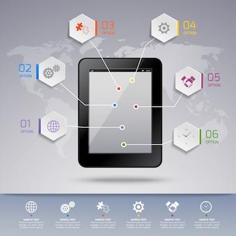 Plantilla de infografía tablet