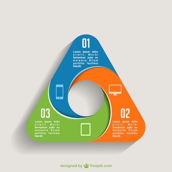 Plantilla de infografía triangular
