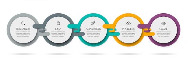 Plantilla de infografía vectorial