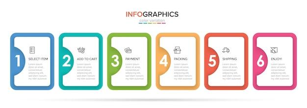 Plantilla para infografías de compras