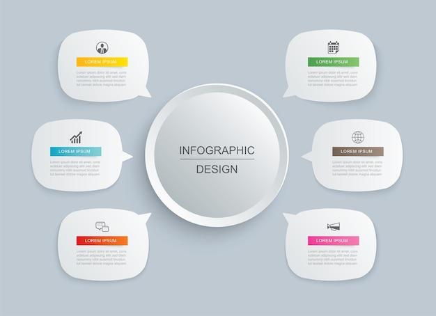 Plantilla de infografías de datos.