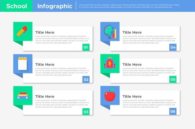 Plantilla de infografías escolares