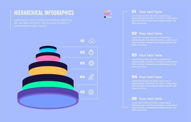 Plantilla de infografías jerárquicas