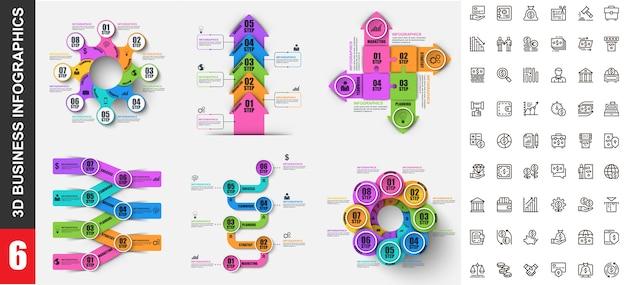 Plantilla de infografías modernas