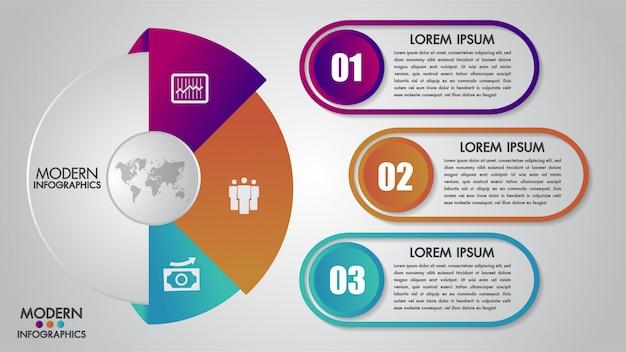 Plantilla de infografías de negocios para el diagrama