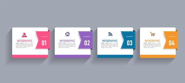 Plantilla de infografías de negocios mínima