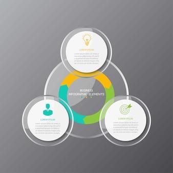 Plantilla de infografías de negocios de presentación