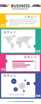 Plantilla de infografías de negocios