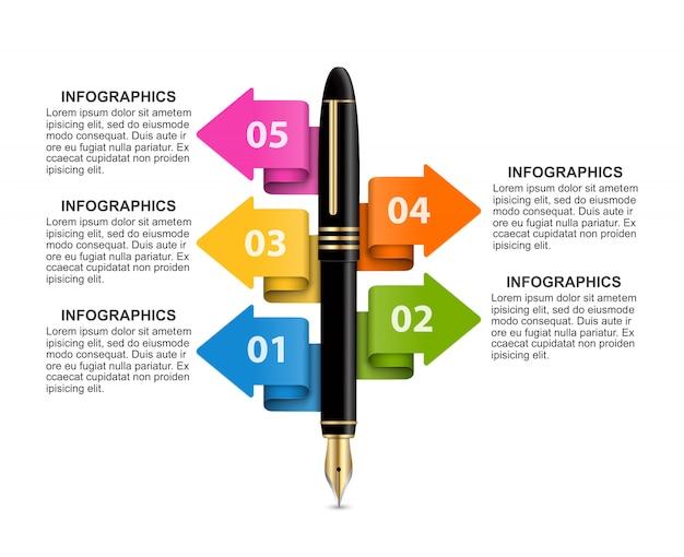 Plantilla de infografías de negocios.