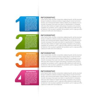 Plantilla de infografías con opción de números.