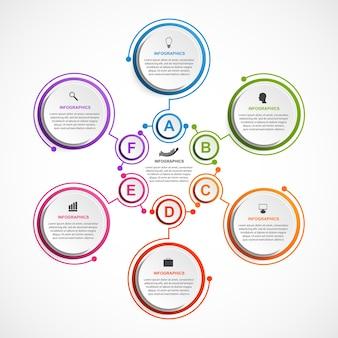 Plantilla de infografías de opciones abstractas