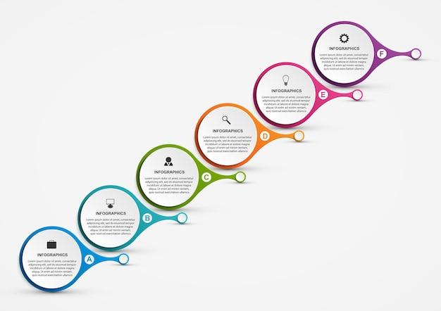 Plantilla de infografías de opciones abstractas.