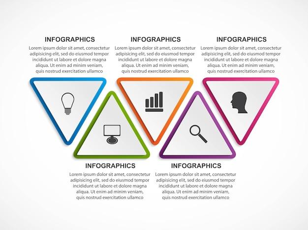 Plantilla de infografías de opciones.