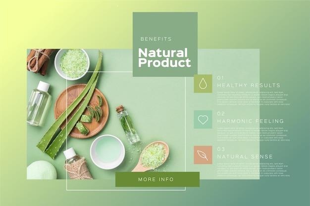 Plantilla de infografías de productos con foto.
