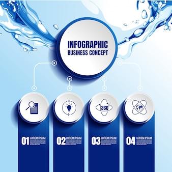 Plantilla de infografic con 4 pasos