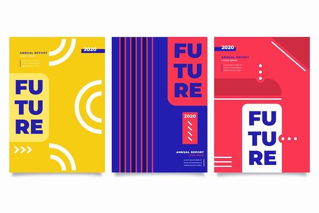 Plantilla de informe anual abstracto colorido