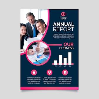Plantilla de informe anual abstracto con imagen