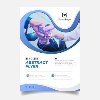 Plantilla de informe anual abstracto