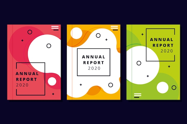 Plantilla de informe anual colorida y moderna