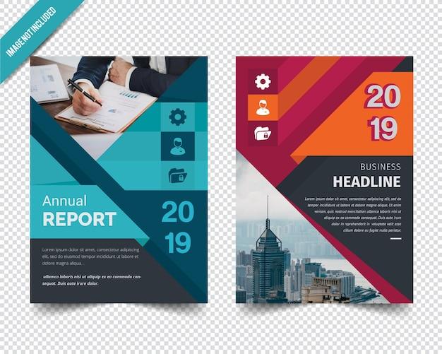 Plantilla de informe anual corporativo abstracto