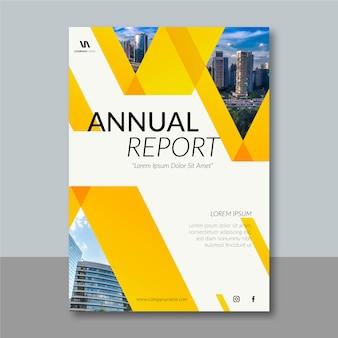 Plantilla de informe anual de diseño abstracto