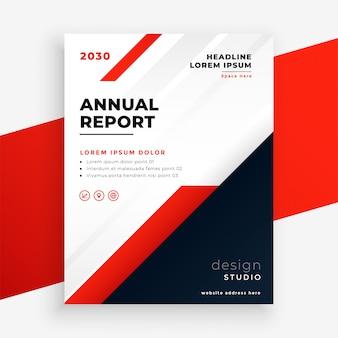 Plantilla de informe anual de folleto de negocios de tema rojo