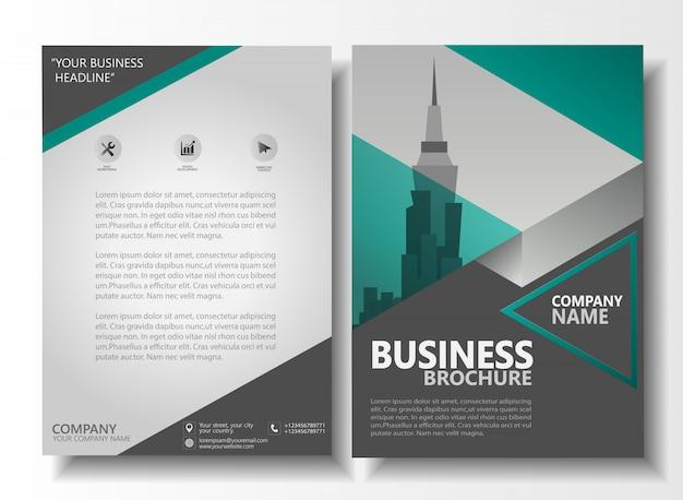 Plantilla de informe anual de folleto tamaño a4 folleto de negocios