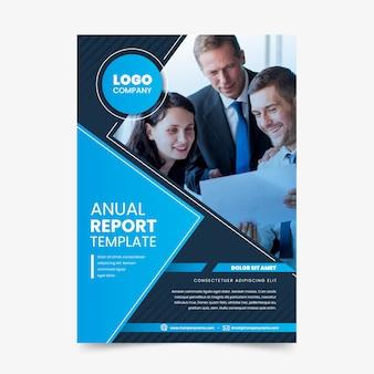 Plantilla de informe anual con foto