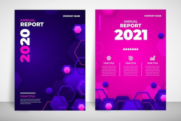 Plantilla de informe anual geométrico