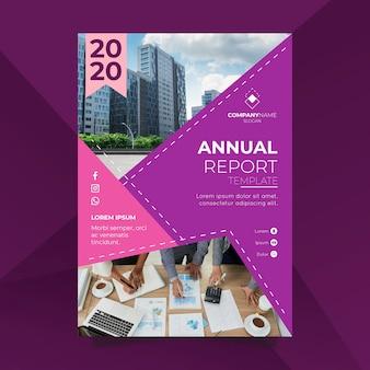Plantilla de informe anual moderno con foto