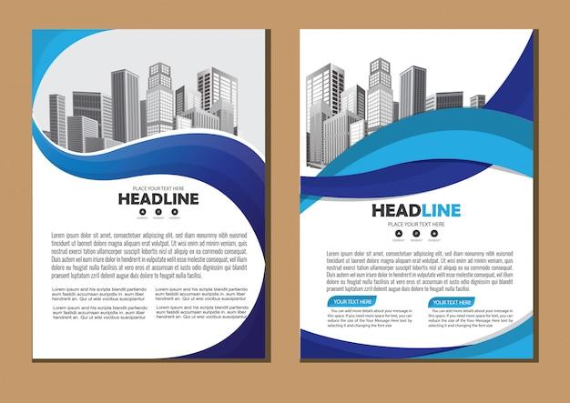 Plantilla de informe anual de negocios con forma geométrica