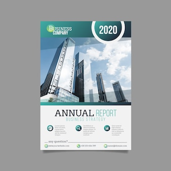 Plantilla de informe comercial anual