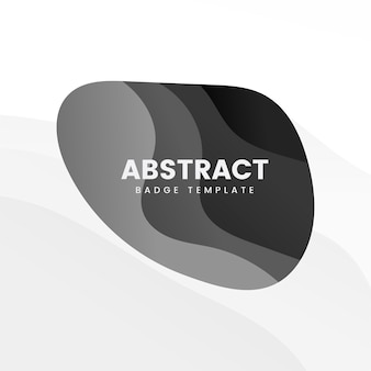 Plantilla insignia abstracta en negro