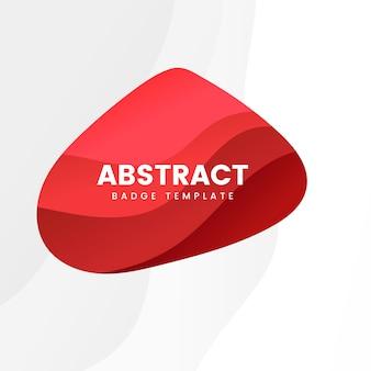 Plantilla insignia abstracta en rojo