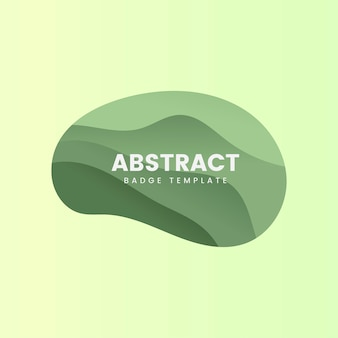 Plantilla insignia abstracta en verde