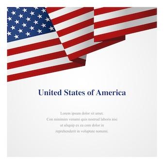 Plantilla de insignia de los estados unidos de américa