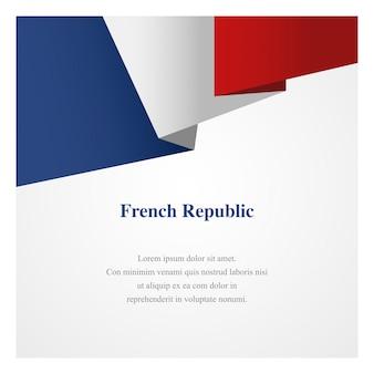 Plantilla de insignia de francia