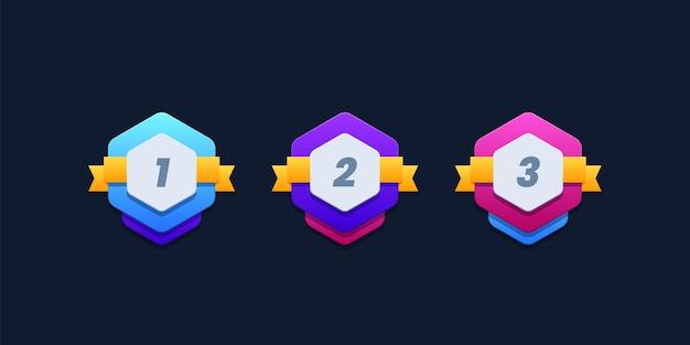 Plantilla de insignias de ganador