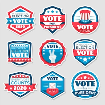Plantilla de insignias y pegatinas de votación
