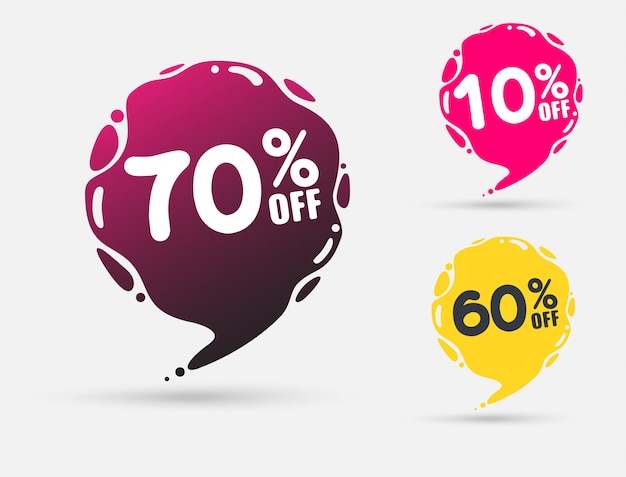 Plantilla de insignias de venta con porcentaje de venta