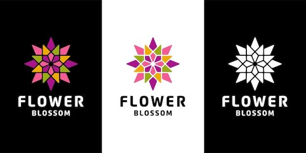 Plantilla de inspiración de diseño de icono de logotipo de flor floreciente